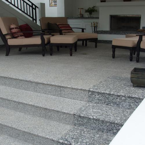 Flamed Granite treads and risers and pavers