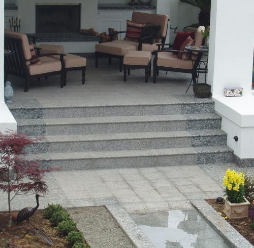 Stair Treads flamed Granite
