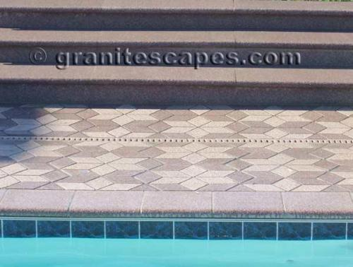 Coping, Pavers, Treads and Risers with matching drain